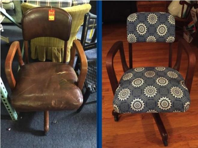 Kwikku, Mengganti kain kursi dengan menambah sedikit polesan
