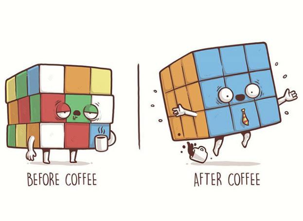 Kwikku, Segelas kopi memang menambah moodboodter
