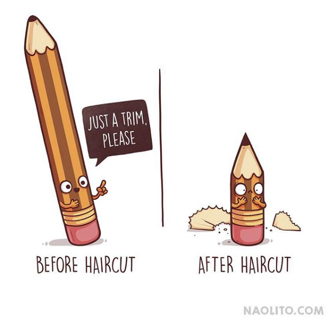 Kwikku, Nyesel banget kalau salah pilih model rambut baru