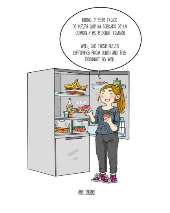 Kwikku, Suka nimbun makanan di kulkas biar besok nggak repot masak