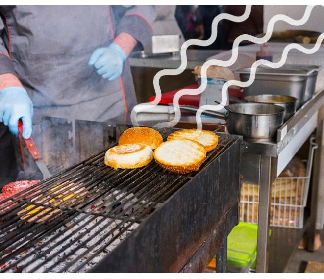 Kwikku, Strategi pemasaran yang digunakan restoran cepat saji adalah menyebarkan bau yang bisa tercium oleh banyak orang