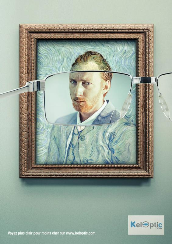 Kwikku, Iklan kacamata yang menjadikan gambar buram tampak lebih jernih