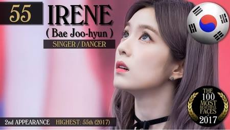 Kwikku, Irene Red Velvet menembus peringkat  dengan wajahnya yang nggak diragukan lagi