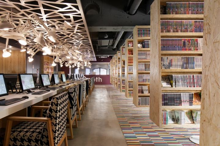 Kwikku, Ada juga Manga Kafe berupa kafe yang menyediakan fasilitas layaknya perpustakaan komik dengan tambahan fasilitas tempat tidur