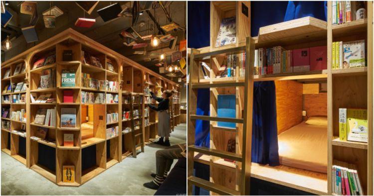 Kwikku, Seperti manga kafe yang satu ini adalah perpustakaan yang sekaligus hotel Asik banget buat kamu pecinta buku