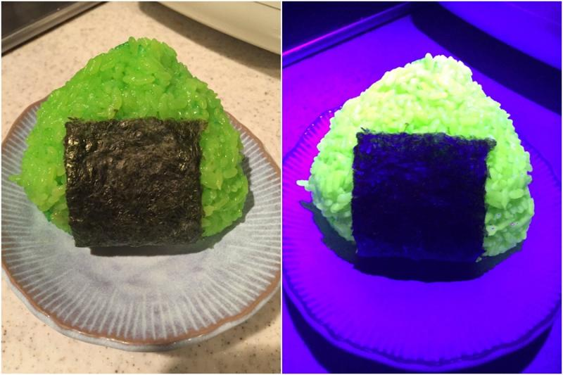 Kwikku, Pecinta kuliner juga bisa memakan nasi yang bisa menyala dalam kegelapan ini saat ada di Jepang