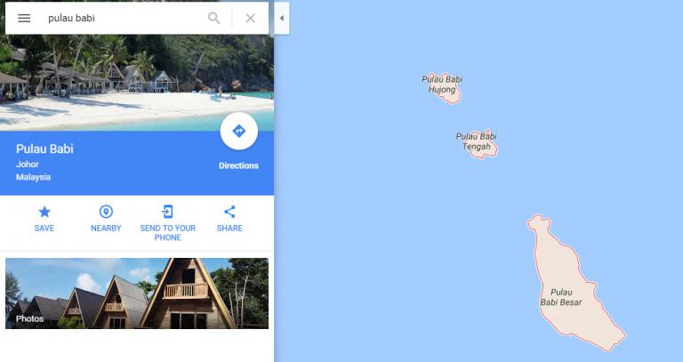 Kwikku, Dahulunya Pulau Babi ini memang banyak dihuni babibai liar namun sekarang sudah tidak ada