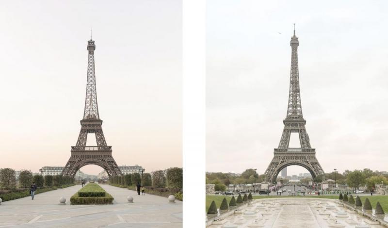 Kwikku, Nggak perlu jauhjauh ke Eropa kita bisa foto di depan menara Eiffle juga meskipun di Asia Tapi KW ya