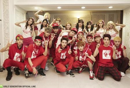 Kwikku, Ini adalah momen dimana EXO menghadiri konser SNSD beramairamai dan sempat foto bersama