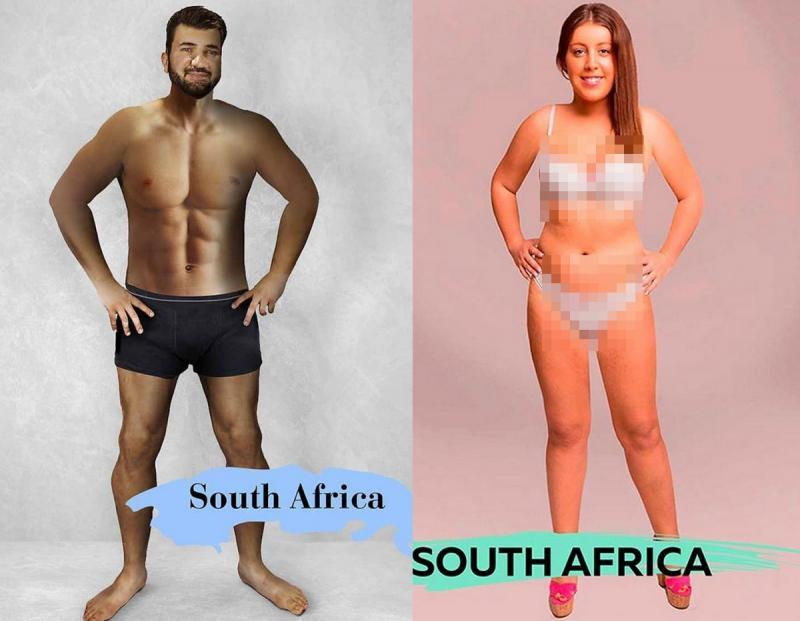 Kwikku, Di Afrika Selatan pria tampan dianggap memiliki warna kulit yang lebih gelap sedangkan wanita cantiknya didefinisikan yang memiliki tubuh ramping dan tinggi