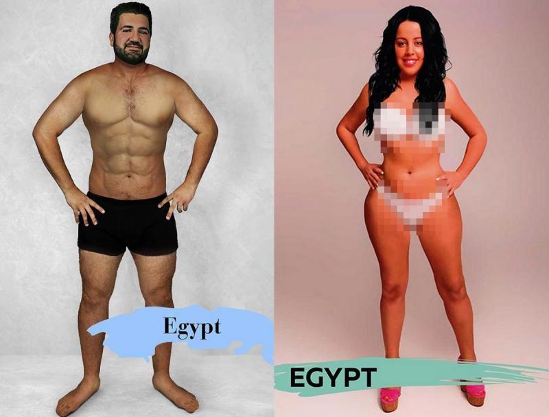 Kwikku, Sementara itu di Mesir pria dan wanita akan lebih menarik bila memiliki kulit yang kemerahmerahan Pria lebih tampang bila beroto dan wanita akan terlihat cantik bila memiliki penggang dan lengan yang kecil