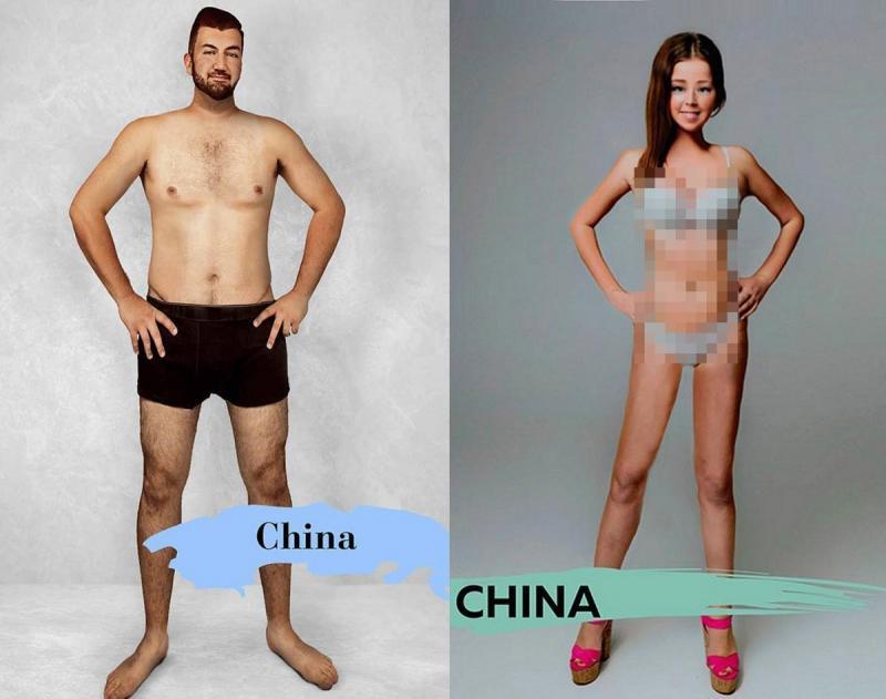 Kwikku, Pria di China dianggap tampang bila memiliki tubuh yang tinggi dan wanita cantiknya memiliki fisik yang kurus