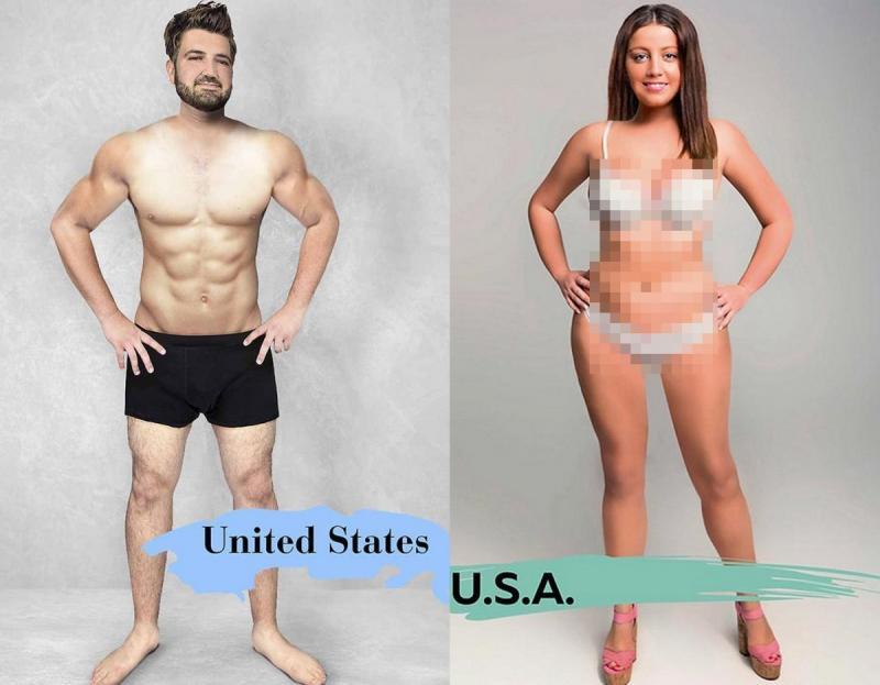 Kwikku, Di Amerika Serikat pria tampan adalah mereka yang berotot dan wanita cantik memiliki paha yang jenjang