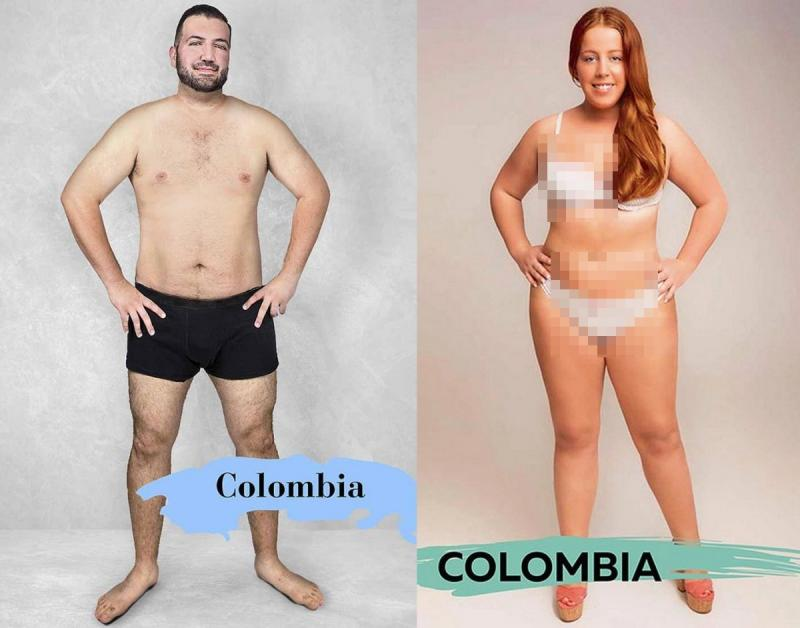Kwikku, Selanjutnya di Kolombia pria tampan didefinisikan memiliki kulit yang halus dan wanita memiliki rambut panjang yang pirang