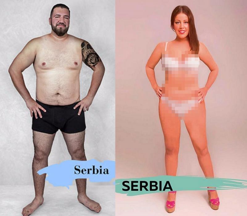 Kwikku, Di Serbia pria tampang adalah yang memiliki tato dan pinggang yang ramping Sedangkan wanita cantik yang memiliki wajah tirus