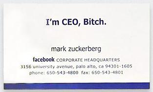 Kwikku, Kartu nama pendiri FB Mark Zuckerberg juga dilengkapi dengan sambutan yang cukup bikin ngakak ya