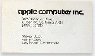 Kwikku, Sang pendiri Apple Steve Job juga memiliki kartu nama yang sederhana banget