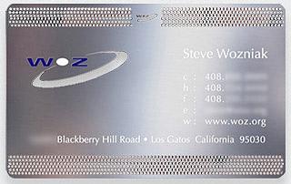 Kwikku, Kartu nama miliki Steve Wozniak yang juga salah satu pendiri Apple ini sudah seperti kartu membership saja ya