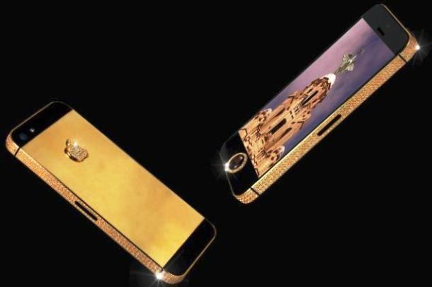 Kwikku, Iphone  yang dilengkapi dengan hiasan emas  karat dan permata hitam ini deihargai Rp  miliar