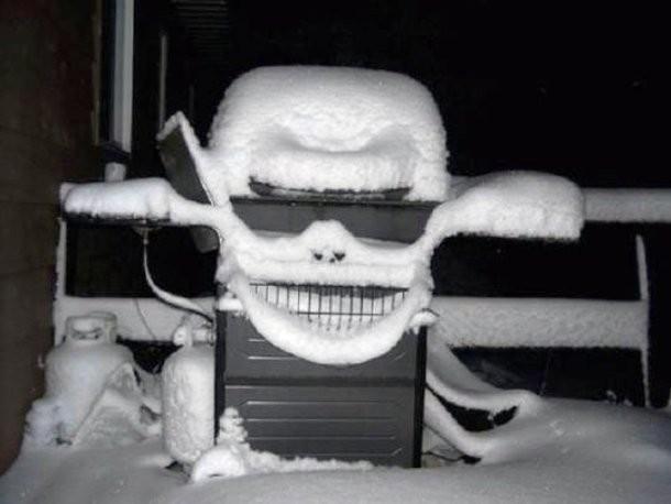 Kwikku, Nggak nyangka ya gumpalan salju bisa jadi sebuah penampakan