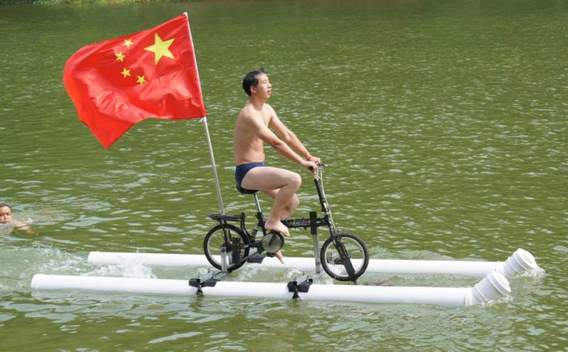 Kwikku, Bisa juga dibuat lomba sepeda diatas permukaan air