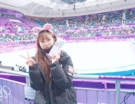 Kwikku, Hyosung Secret juga nggak kalah eksis dengan ikut menonton Olimpiade Pyeongchang