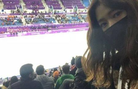 Kwikku, Meskipun menutup wajahnya dengan masker Park Shin Hye juga membuktikan dirinya hadir di Olimpiade Pyeongchang