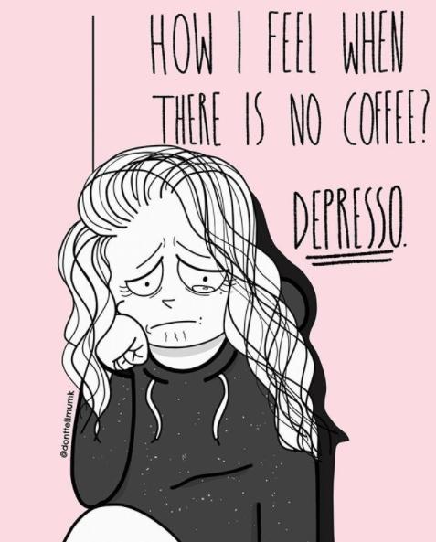 Kwikku, Ada saja hal yang menjadi candu seperti kopi dan despresi yang beda tipis