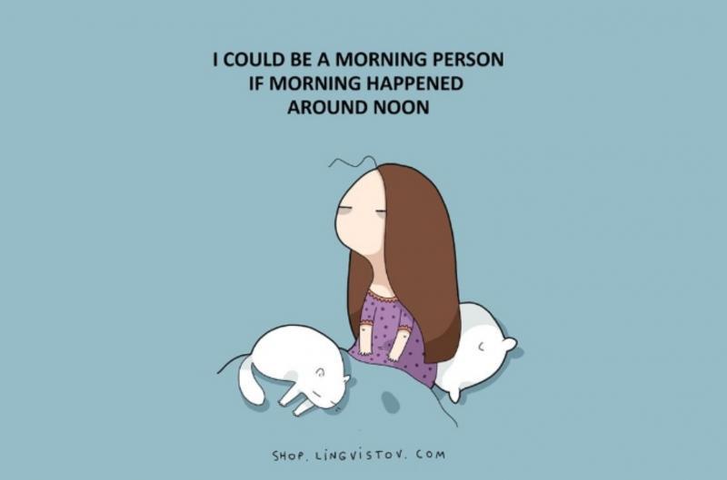 Kwikku, Rasanya nggak rela kalau harus bangun pagi maunya pagi jadi siang Nah lo Repot deh