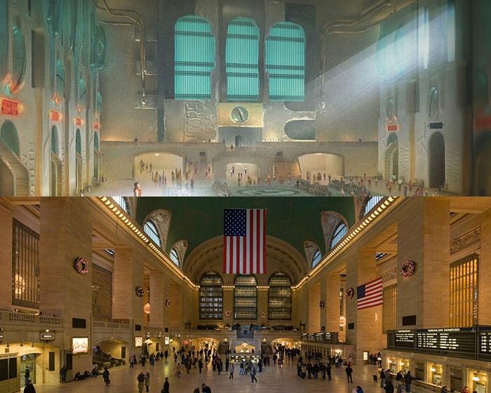 Kwikku, Yang satu ini adalah pemandangan stasiun Game Central di film Wreck it Ralph yang terinspirasi dari Terminal Grand Central New York