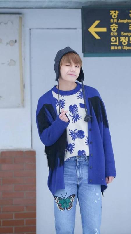 Kwikku, Pada MV lagi Spring Day V memakai celana jeans dari Gucci