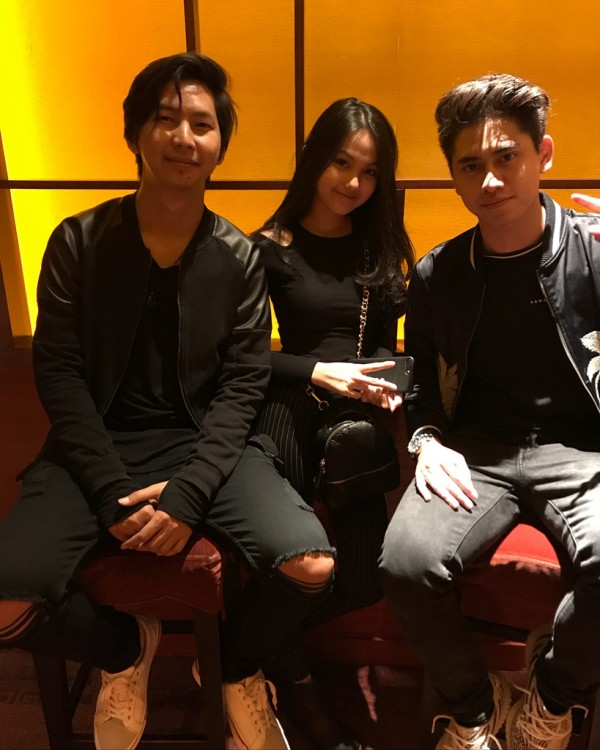 Kwikku, Athala juga membawa serta Aisyah saat gala premier pemutaran film Nini Thowok yang dibintangi oleh Natasha Wilona