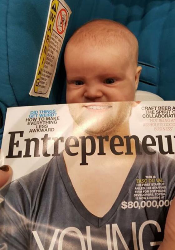 Kwikku, Wow Kalau yang ini sebaliknya ya bayi dengan setengah wajah orang dewasa