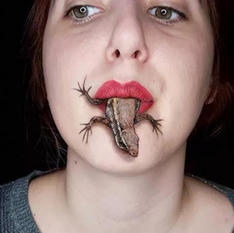 Kwikku, Aduh nggak bisa ngebayangin ya kalau ada kadal yang keluar dari mulut jadi teringat film horror Suzana