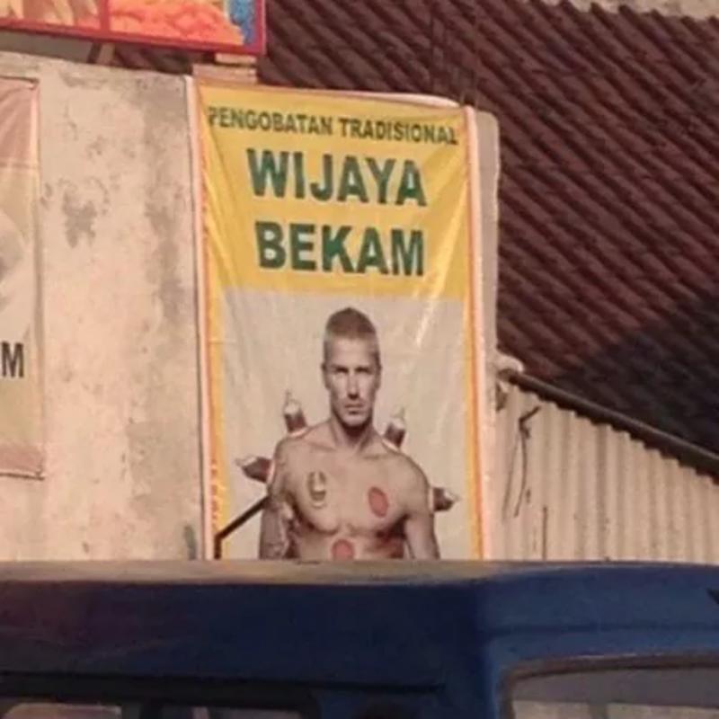 Kwikku, Wah rupanya Beckam sudah jadi brand ambassador pengobatan tradisional ya Sudah ijin belum ya Ngakak banget