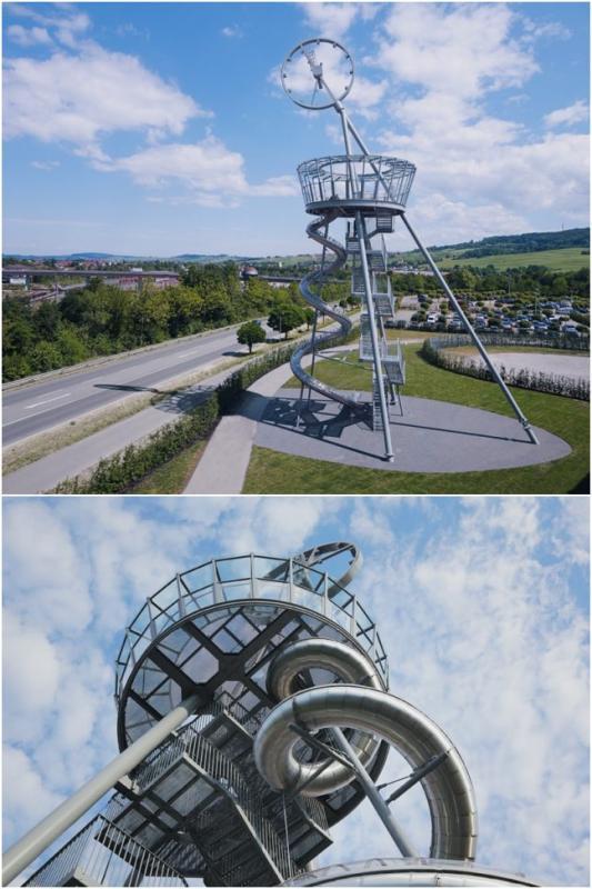 Kwikku, Selanjutnya seluncuran ini berada diatas tower tepatnya berada di Jerman Lumayan ngeri juga ya Tingginya nggak ketulunga
