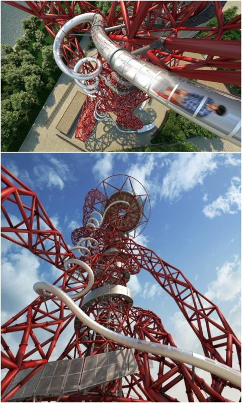 Kwikku, Salah satu tower di London Inggris memiliki seluncuran yang nggak kalah bikin ngeri