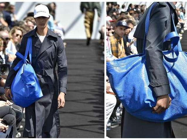 Kwikku, Meskipun terlihat seperti kantong belanjaan IKEA namun tas keluaran Balenciaga ini dihargai senilai Rp  juta Website belanjaShopBag menyebutkan bahwa tas ini terbuat dari kulit
