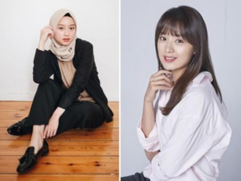 Kwikku, Mungkin Youtuber Gita Savitri bisa dikaitkan dengan Kim Ji Won jika berhijab ya gaes Dari struktur wajahnya mereka berdua memang memiliki kesamaan