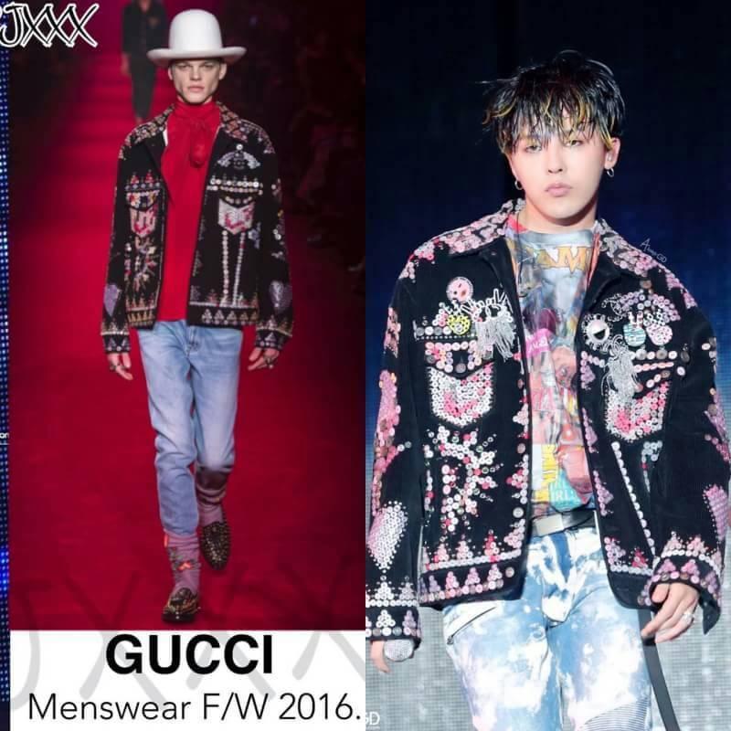 Kwikku, GD tidak pernah gagal dengan gaya Agamenya dalam setiap live konser yang ia bawakan yang tampak seperti peragaan busana Sebut saja seperti jaket Saint Laurent dan kacamata hitam Chanel hingga mantel bulu Fendi