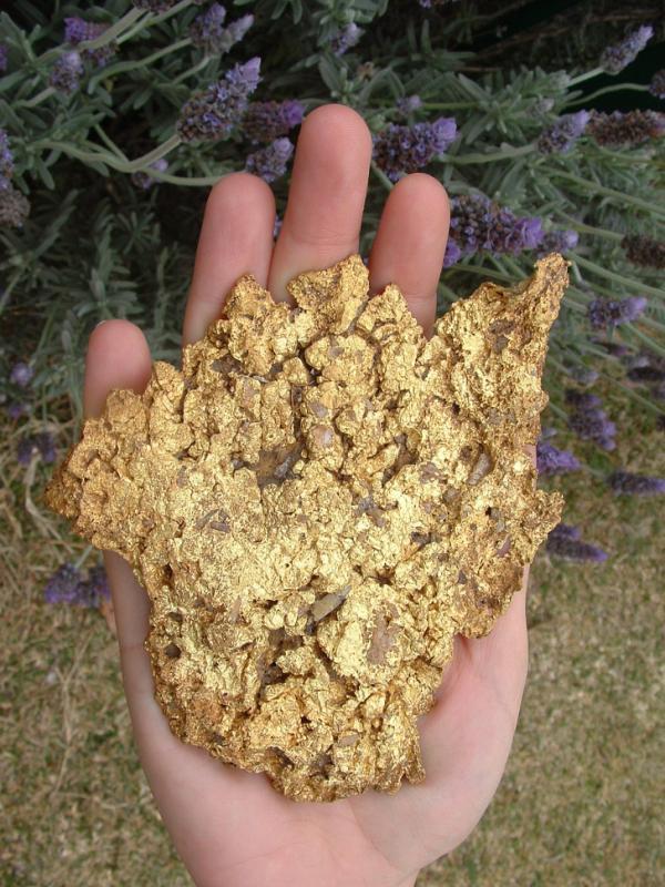 Kwikku, Bongkahan emas
