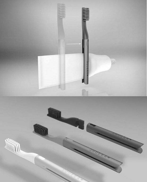 Kwikku, Kita bisa menggunkan pasta gigi dengan efisien berkat sepasang sikat dan pasta gigi ini