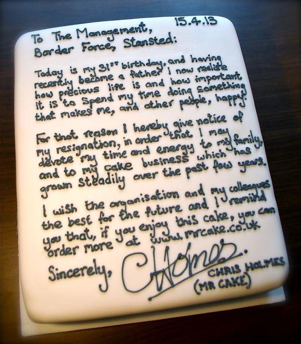 Kwikku, Niat banget nulis surat diatas cake begini