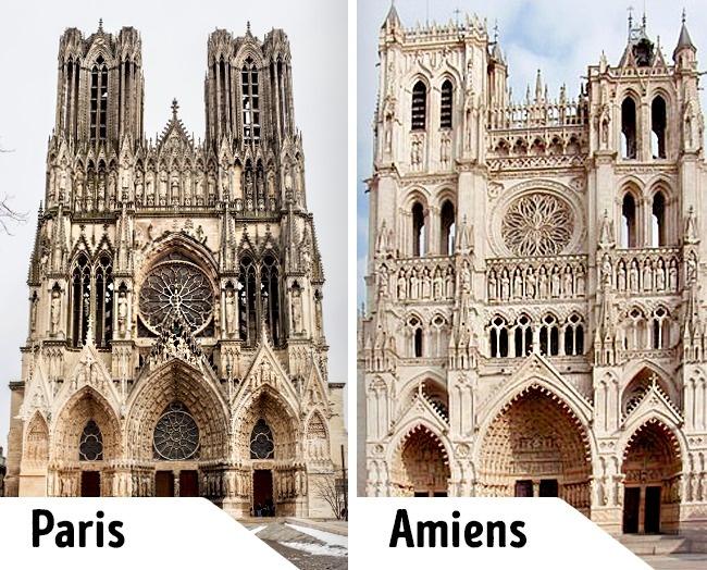 Kwikku, Desain gereja ini memang tampak serupa ya gaes NotreDame de Paris dan Amiens Cathedral ini selain hampir sama juga berada di negara yang sama Prancis