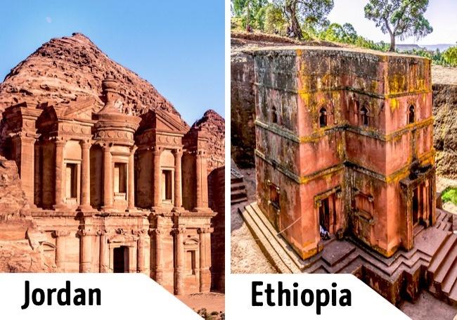 Kwikku, Jika nggak sempat berkunjung ke Petra di Yordania kamu bisa menggantinya dengan pergi ke Lalibela di Ethiopia yang nggak kalah unik
