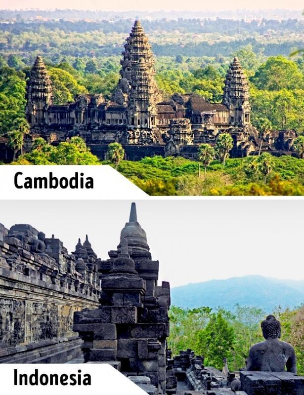 Kwikku, Kamboja juga memiliki candi bernama Angkor Wat yang tampak seperti Candi Borubudur gaes