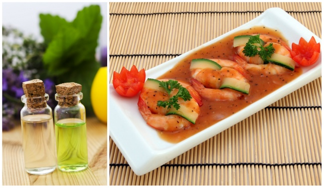Kwikku, Campuran air dan gliserin akan membuat efek segar pada makanan laut