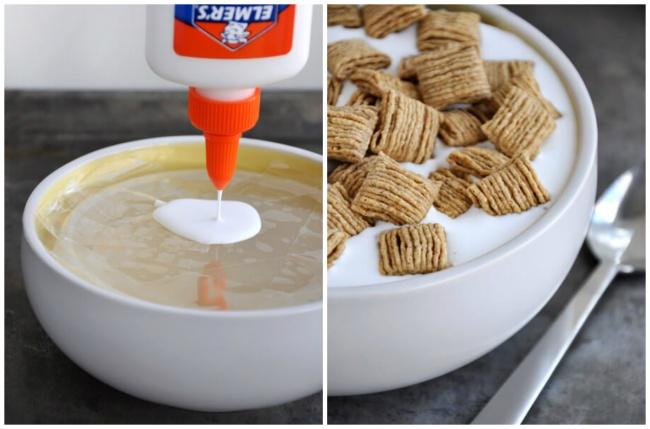 Kwikku, Karena susu mudah diserap sereal mereka menggunakan lem agar sereal tidak mudah tenggelam