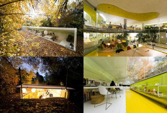 Kwikku, Penempatan kantor Selgas Cano Architecture tergolong unik mereka membangunnya di tengah hutan Meskipun demikian desain dan fasilitas di kantor tersebut juga terlihat modern dan keren