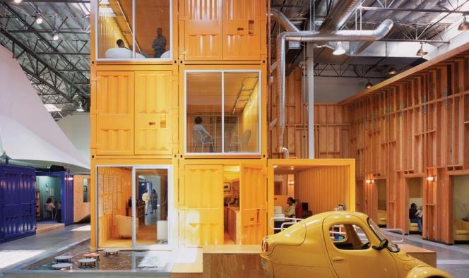 Kwikku, Nah kalau yang ini adalah penampakan dari kantor Pallota teamworks Mereka memanfaatkan kontainer bekas sebagai tempat kerja para karyawannya dengan desain yang bikin nyaman banget pastinya